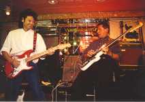 Mike Beddoes and Barry Gibson at the Burns Guitars Showcase, Tokyo